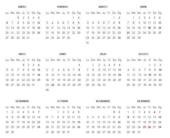 Calendario Laboral De Cataluna.Calendario Laboral 2014 Cataluna Definanzas Com