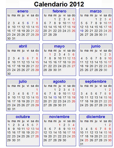 El calendario oficial presentado por el BOE no es este, por lo que no ...