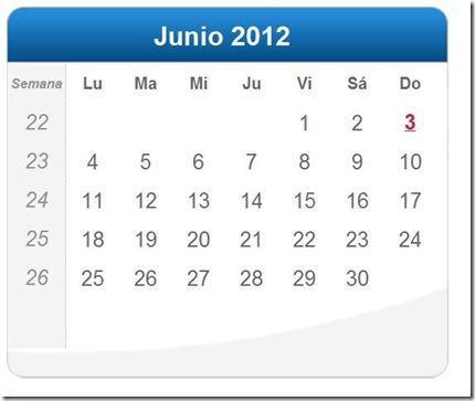 Calendario Julio 2012 Definanzas Com