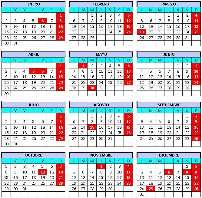 Calendario laboral canarias 2012 - Festivos tenerife ...