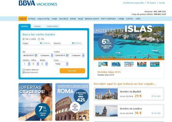 Qué buscar en BBVA Vacaciones: