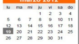 Calendario Laboral Marzo 2012