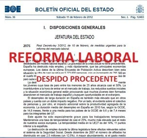 Reforma laboral 2012 paso a paso Los Despidos
