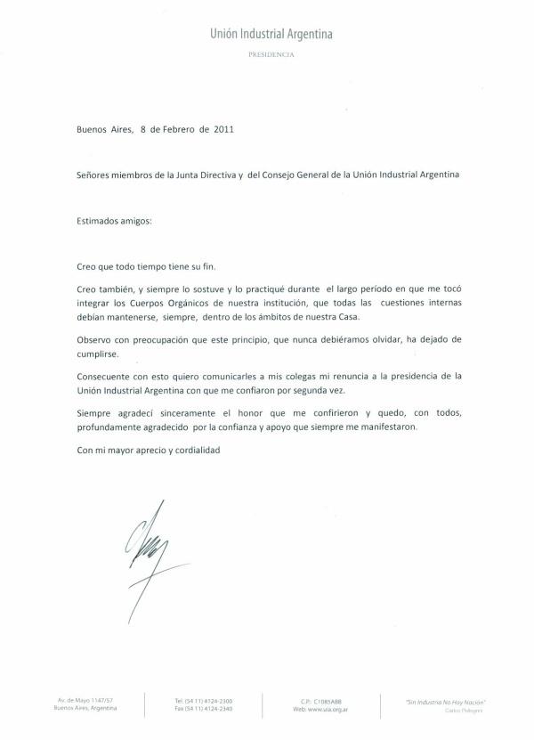 ejemplos de cartas de dimisión 2018 definanzas com