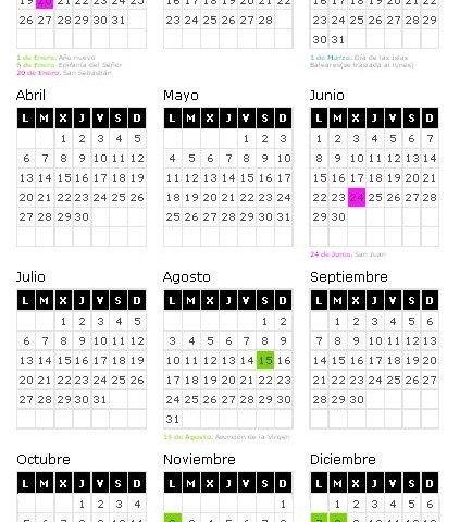 Calendario Laboral 2015 Islas Baleares