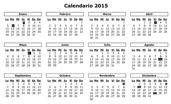 Calendario Laboral 2015 Murcia