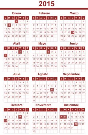 Calendario Laboral 2015 Valencia-Comunidad Valenciana