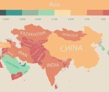 Cuáles son los países en los que más se cobra y en los que menos se cobra – Mapa-Infografía