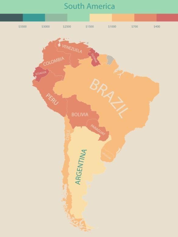 renta per capita sudamerica