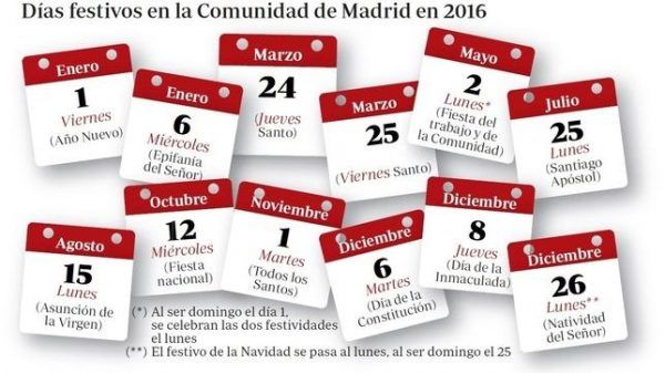 Calendario laboral madrid 2017 for Calendario eventos madrid