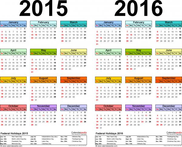 Novedades calendario laboral 2016
