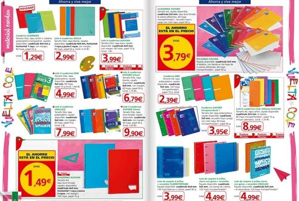 cuadernos alcampo