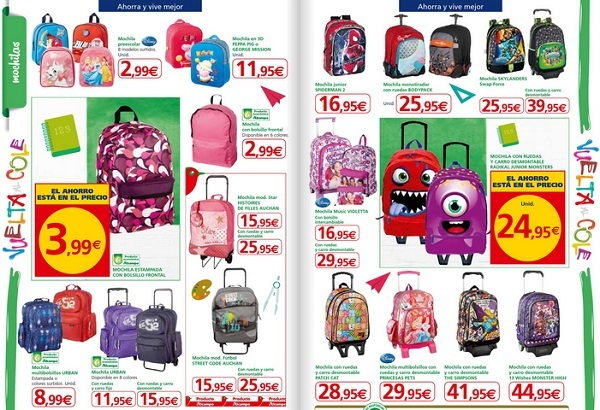 precio mochila alcampo