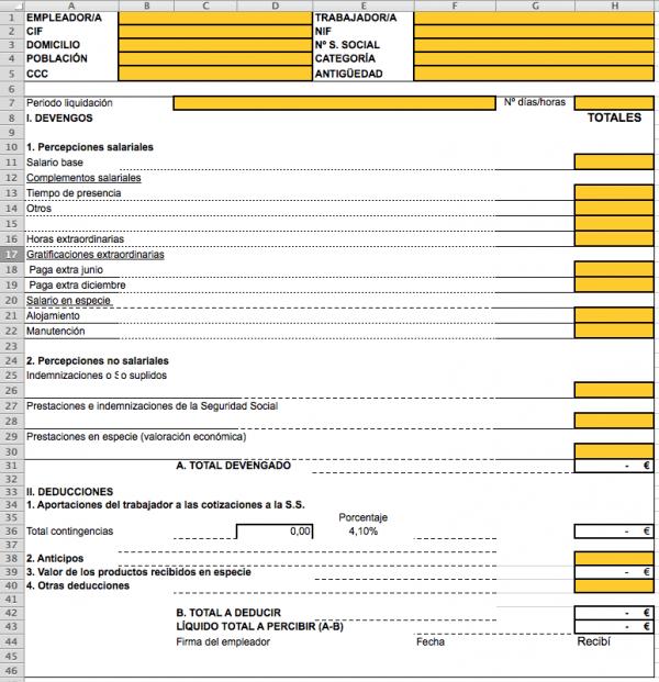 Excel nomina 2016 for Liquidacion de nomina excel 2016