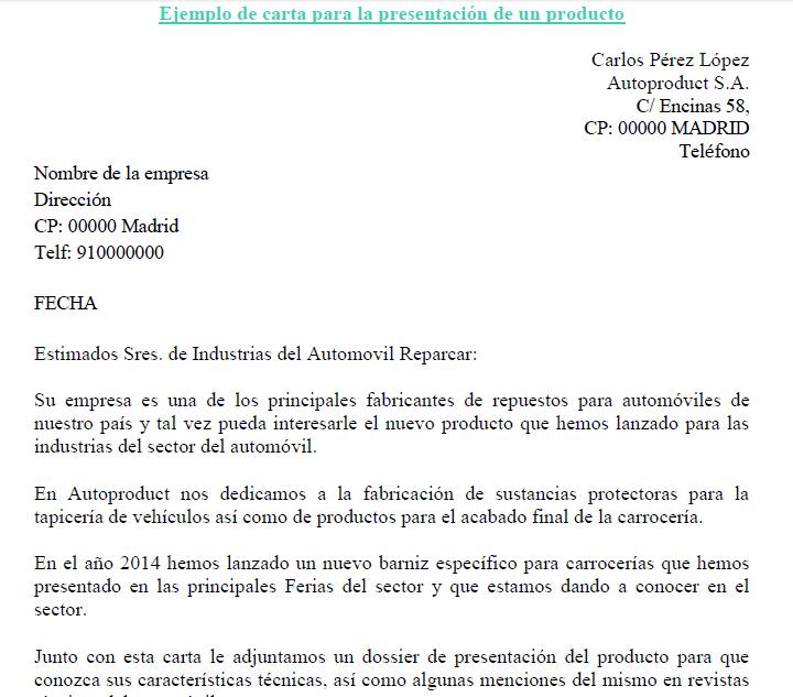carta de presentaci u00f3n