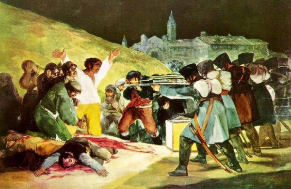 Fusilamientos del Monte de Príncipe Pío en la noche del 2 al 3 de mayo de 1808