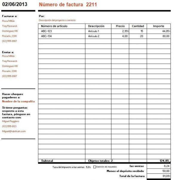 cómo hacer una factura pasos y ejemplos de facturas definanzas com