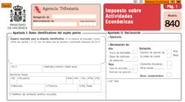 (IAE) Impuesto sobre Actividades Económicas