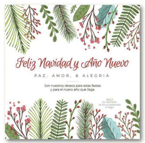 postal navideña personalizada