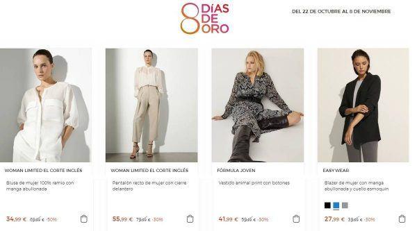 ocho dias de oro el corte ingles moda mujer