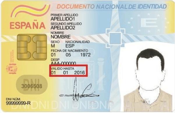 Los requisitos para renovar el DNI: Documentación DNI anterior