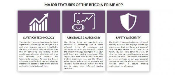 Bitcoin prime tiene una aplicación