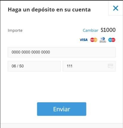 Deposita fondos en tu cuenta Bitcoin Evolution
