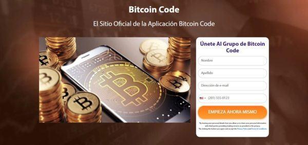 Registro en Bitcoin Code