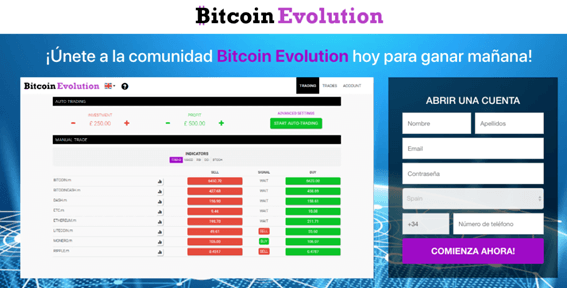 Registro en Bitcoin Evolution