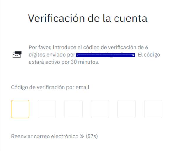 Verificar cuenta Binance