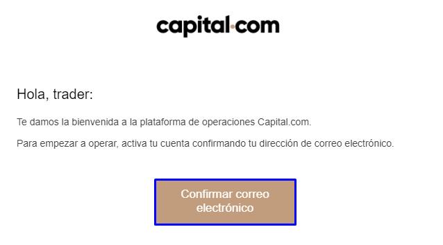 confirmar correo capital.com