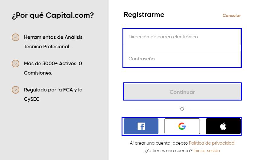 registro capital.com