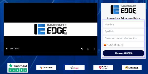 Registro en Immediate Edge