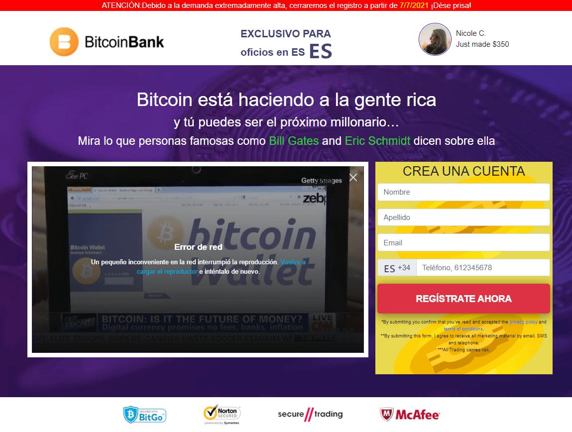 pagina principal bitcoin bank