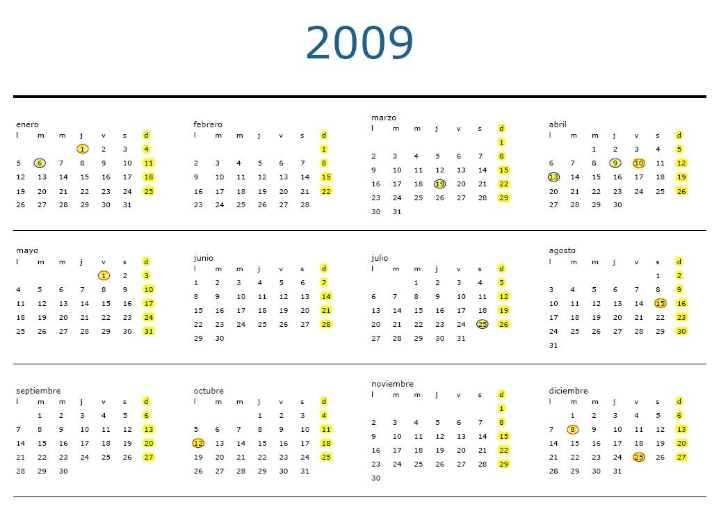 todo para navidad y calendarios 2009